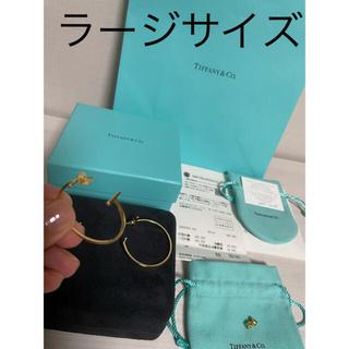 Tiffany & Co. - ティファニー Tピアス イエローゴールド ミディアムサイズ