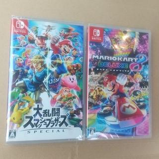 Nintendo Switch - 大乱闘スマッシュブラザーズ  マリオカート8  switch 2点セット