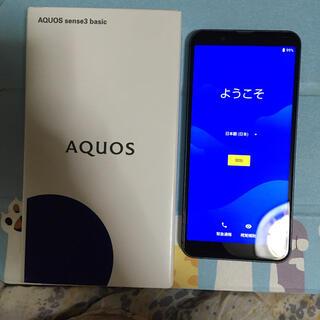 アクオス(AQUOS)のAQUOS sense3 basic SHV48 BLACK(スマートフォン本体)