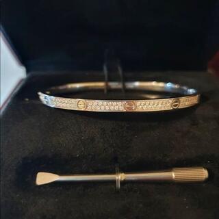 Cartier - 【保証書付】カルティエ ラブブレス  18 ダイヤ ブレスレット