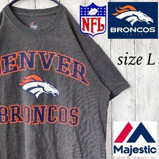 Majestic - 【Majestic】デンバー・ブロンコス Tシャツ 半袖 NFL L 古着