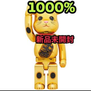 MEDICOM TOY - ★新品未開封★BE@RBRICK 招き猫 金メッキ 発光 1000%