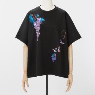 mame - 美品 Mame Kurogouchi 刺繍Tシャツ