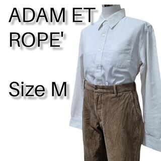 アダムエロぺ(Adam et Rope')のアダムエロペ シャツ M ホワイト系 長袖 ビジネス カジュアル フォーマル(シャツ)