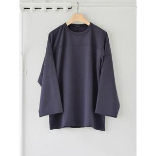 コモリ(COMOLI)のCOMOLI 21AW 新作 フットボールTシャツ ネイビー 3 コモリ(Tシャツ/カットソー(七分/長袖))