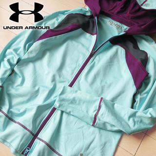 UNDER ARMOUR - 超美品 L アンダーアーマー レディース パーカージャケット グリーン