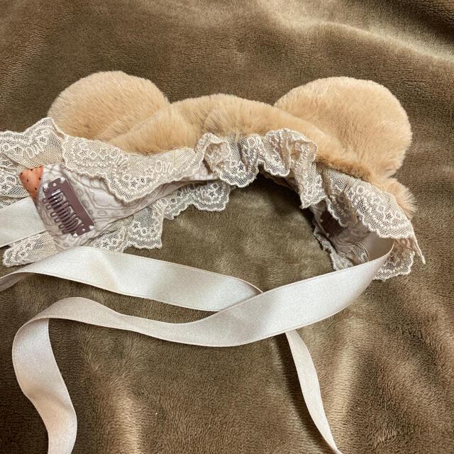 Angelic Pretty(アンジェリックプリティー)のヘッドドレス 熊ちゃん ロリータ レディースのヘアアクセサリー(カチューシャ)の商品写真