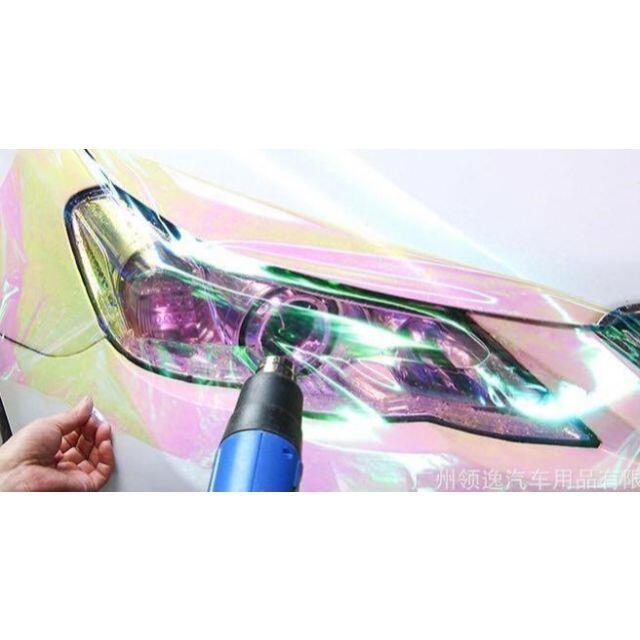 カメレオン ビニール フィルム レインボーカラー ヘッドライト 自動車/バイクの自動車(車外アクセサリ)の商品写真