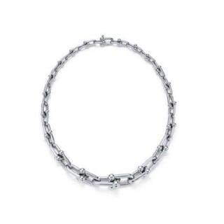 Tiffany & Co. - 【TIFFANY】ハードウェア グラジュエイテッド リンク ネックレス シルバー