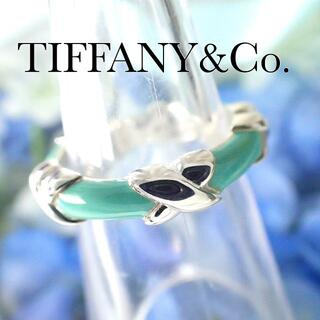 Tiffany & Co. - ティファニー TIFFANY シグネチャー リング エナメル ティファニーブルー