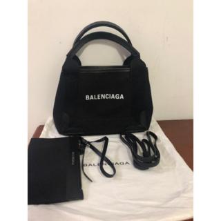 バレンシアガ(Balenciaga)のバレンシアガ ネイビーカバス XS 美品!!未使用に近い!!(ハンドバッグ)