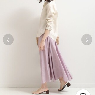 ノーブル(Noble)のパールローン スカート ノーブル ピンク(ロングスカート)