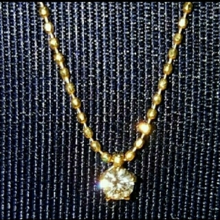 K18 1本は欲しい1粒ダイヤモンドネックレス