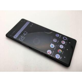 ソニー(SONY)の541 SIMフリー上美品au Xperia XZ3 SOV39 レッド(スマートフォン本体)