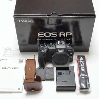 Canon - 【保証2年】EOS RP 革製ケース、予備純正バッテリー付