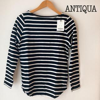 antiqua - 【新品タグ付き】ANTIQUA アンティカ ボーダーカットソー ロンT