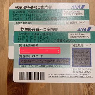 エーエヌエー(ゼンニッポンクウユ)(ANA(全日本空輸))の値引きしました!!ANA 株主優待 2枚セット(航空券)