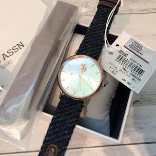 【希少】US POLO ハリスツイードコラボ メンズ レディース 腕時計 箱付き