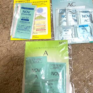 ノブ(NOV)のノブNOV Aなどの日焼け止め、化粧品、洗顔などのサンプル品3セット(サンプル/トライアルキット)