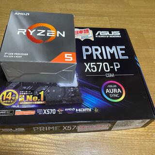 ASUS - ryzen5 3500 x570-p セット