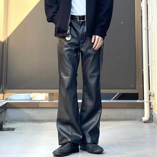 ジョンローレンスサリバン(JOHN LAWRENCE SULLIVAN)のvintage レザー フレアパンツ ブーツカット レザーパンツ スラックス(スラックス)