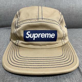 Supreme - Supreme Contrast Stitch camp cap Tan