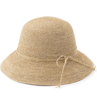 ムジルシリョウヒン(MUJI (無印良品))の無印良品 ラフィア キャペリン 帽子(麦わら帽子/ストローハット)