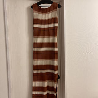 herlipto cottonstripedribbedknitdress