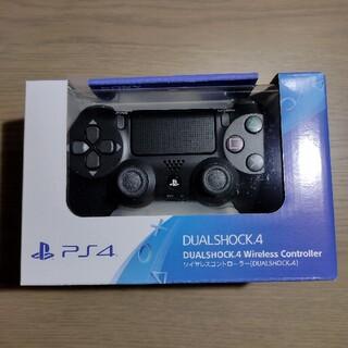 プレイステーション4(PlayStation4)のPS4 ワイヤレスコントローラー 純正 デュアルショック4 ブラック(家庭用ゲーム機本体)