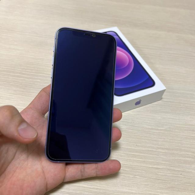iPhone(アイフォーン)のバッテリー容量100% iPhone12 パープル128GB Simフリー スマホ/家電/カメラのスマートフォン/携帯電話(スマートフォン本体)の商品写真