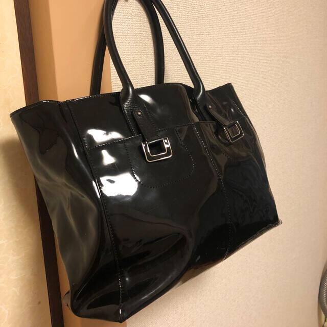 濱野皮革工藝/HAMANO(ハマノヒカクコウゲイ)の❤️良品 傳濱野エナメルトートバッグ hamano❤️ レディースのバッグ(トートバッグ)の商品写真