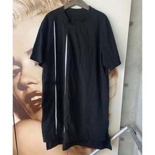Yohji Yamamoto - GroundY グラウンドワイ   21SS カッティングブレード  Tシャツ