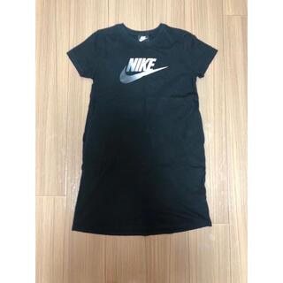 ナイキ(NIKE)の【NIKE】Tシャツ ワンピース ロンT Lサイズ ブラック(ミニワンピース)
