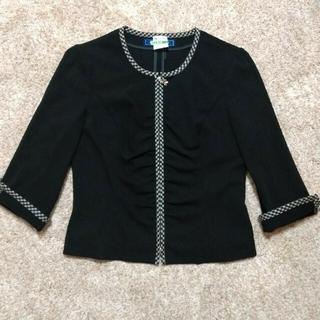 エムズグレイシー(M'S GRACY)の日本製美品♡チェック柄♡ジャケット エムズグレイシー(ノーカラージャケット)