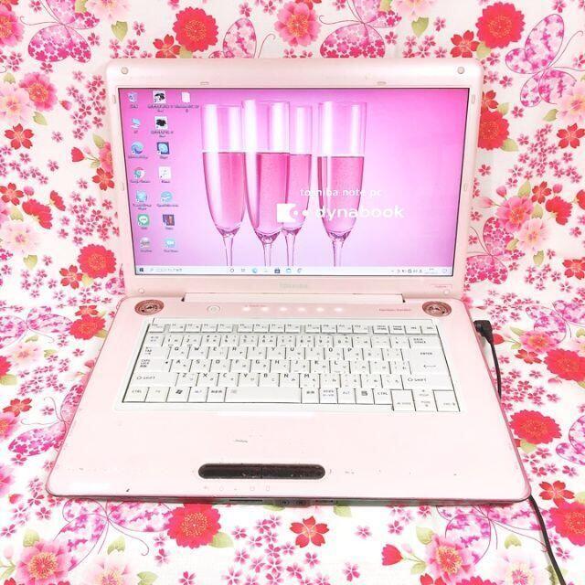 東芝(トウシバ)の227可愛いピンク♪ノートパソコン本体♪高速SSD♪初心者も安心♪Win10 スマホ/家電/カメラのPC/タブレット(ノートPC)の商品写真