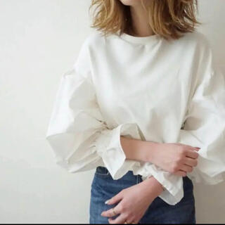 ZARA - zara♡ポプリンスリーブスウェットシャツ