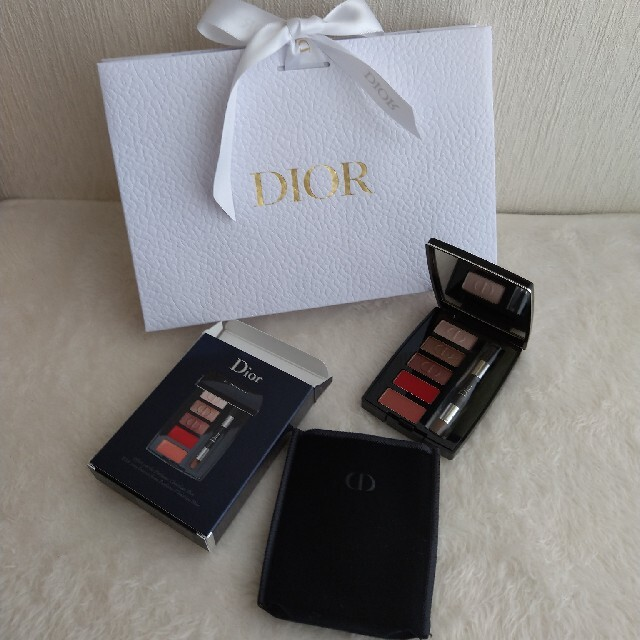 Dior(ディオール)のギフト対応【新品♡】Dior ディオール アイ&リップパレットサンプル 非売品 コスメ/美容のキット/セット(コフレ/メイクアップセット)の商品写真