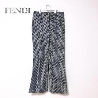 FENDI - 【美品】FENDI ズッカ柄 ワイドパンツ ブーツカット グレー 40