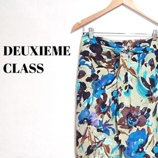 ドゥーズィエムクラス(DEUXIEME CLASSE)のラグジュアリー☆ ドゥーズィエムクラス スカート 総柄 サイズ38 レディース(ひざ丈スカート)