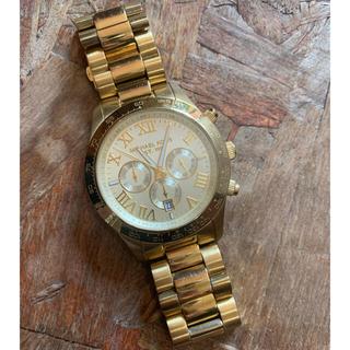マイケルコース(Michael Kors)の▽コマなし約14cm▽マイケルコース クロノグラフ MK8214 ゴールド 時計(腕時計)
