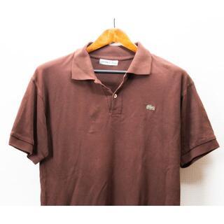 ラコステ(LACOSTE)のLACOSTE ラコステ ポロシャツ半袖 茶(ポロシャツ)