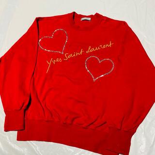 イヴサンローランボーテ(Yves Saint Laurent Beaute)の【美品】yvessaintlaurent トレーナー イブサンローラン  (トレーナー/スウェット)