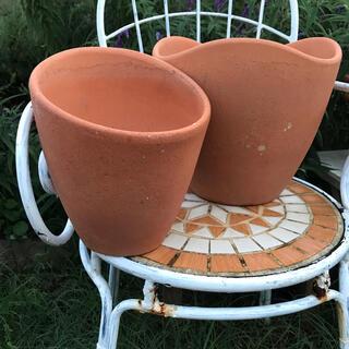 924-2【まとめて2個】素焼き鉢 テラコッタ鉢 植木鉢 寄せ植え ガーデニング(プランター)