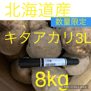 北海道産キタアカリ3L8kg