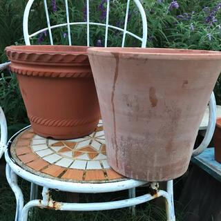924-3 【まとめて2個】大型 テラコッタ鉢 植木鉢 ガーデニング寄せ植え(プランター)