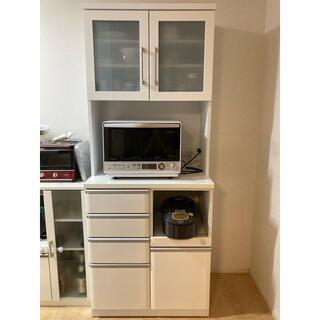 ニトリ - ニトリ 食器棚 キッチンボード クリスナ 80KB