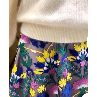 GRACE CONTINENTAL - GRACE CONTINENTAL 42,900円オットマン刺繍ラップスカート