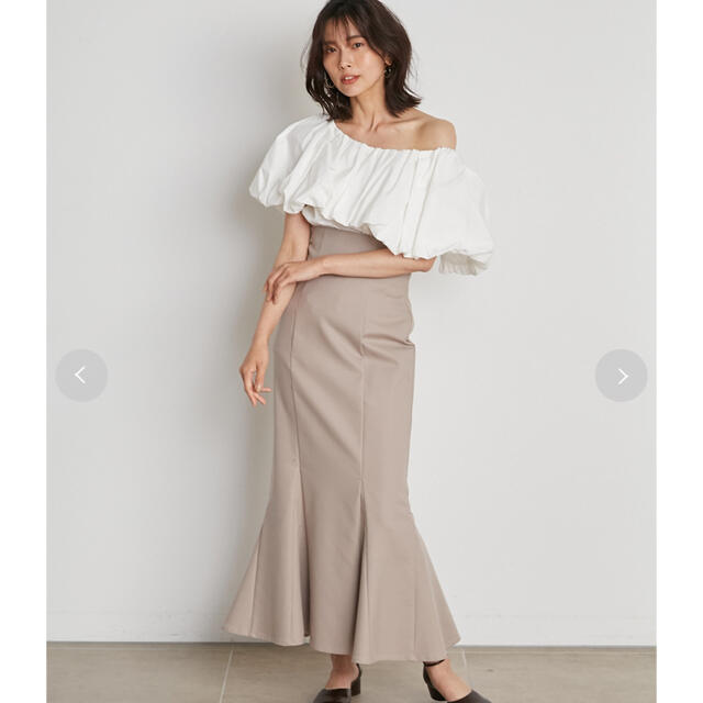 snidel(スナイデル)のスナイデル✨ ハイウエストタイトヘムフレアスカート レディースのスカート(ロングスカート)の商品写真