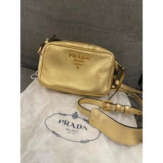 PRADA - 【極美品】PRADA プラダ ショルダーバッグ ゴールド