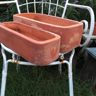 924-6送料無料【まとめて2個】 長方形テラコッタ鉢植木鉢ガーデニング寄せ植え(プランター)